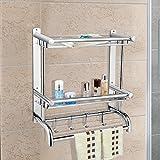 Acecoree Regal Über Tür Küche Badezimmer Kleiderbügel Handtuchhalter Organizer Wandhalterung Handtuchhalter
