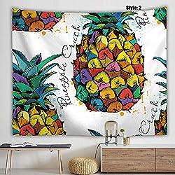YAOWEN Tapestry Tapiz Tapicería Hippie Tapicería Digital/Pintura Tapiz/Damas Toalla De Playa Tapiz De Pared De Piña Chal De Las Señoras (Selección De Estilo),Green,100X150cm