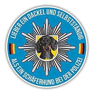 Siviwonder Polizei DACKEL Auto Aufkleber Hund K9 SCHÄFERHUND Reflex Hundeaufkleber