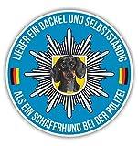 POLIZEI DACKEL Auto Aufkleber HUND K9 SCHÄFERHUND reflex Hundeaufkleber Siviwonder