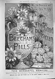 SPÉCIALITÉ PHARMACEUTIQUE 1887 de PILULES de la PUBLICITÉ BEECHAMS [Cuisine et Maison]