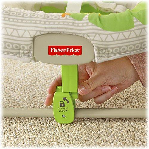 Fisher-Price Modelo BGM57 Hamaca Bebe electrica Blanco y verde - 5