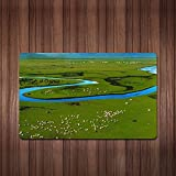 Gannan grassland tourist scenic extra thick personalized Gaming Mouse Pad 30*25,F