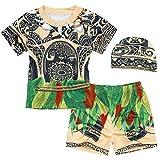 AmzBarley Moana Maui Costume Bambino Ragazzi Due Pezzi Costumi da Bagno Nuoto Cime Pantaloncini Calzoncini Berretto Mare Piscina Nuotare Vacanze Estive Carnevale Abbigliamento da Spiaggia