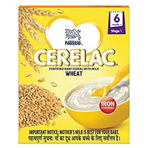Nestlé Cerelac Fortified Baby Cereal with Milk – 6 Months+, Stage 1, Wheat, 300g