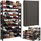 ProBache - Etagère range chaussures 50 paires modulable+housse grise