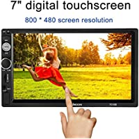 KKMOON 7 Pulgadas Universal 2 DIN HD Con BT Para Coche Radio, Reproductor Multimedia TF MP5 Entretenimiento Radio FM Con USB y Entrada Aux 7010B