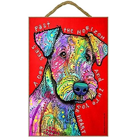 Airedale Terrier regalo colorato, motivo