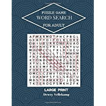 Puzzles Game Word Search For Adult Large Print: 50 Puzzles Large Print Word Search
