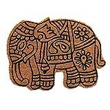 Coco & Coir Natural Coir | Antideslizante | Coco Grueso Respaldo de Goma | Ecológico | Interior | Exterior | Resistente | Tema de Animales | Felpudo de Entrada | 45 x 75 cm (Jumbo Real)