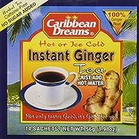 Caribbean Dreams Instant Ginger Tea Un-Sweetened 14 Sachets