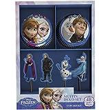 Dekoback 2217334 La Reine Des Neiges Décoration pour Muffins Multicolore 17,5 x 12,5 x 2 cm 48 Pièces