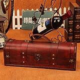 Rustikale Holz Wein Geschenkbox & Tragetasche