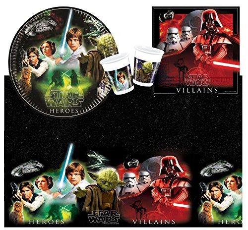 Procos 10105472 - Set di accessori per feste, motivo: Star Wars Heroes, misura S