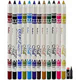 N&M Perfect Eye/Lip Liner Pencil Pack Of 12 With Kajal