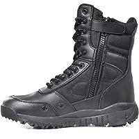 WERT Zip tattico Stivali con Laterale, Mens Escursionismo Militare Combattimento di Avvio, Ultralight Durevole Walking…