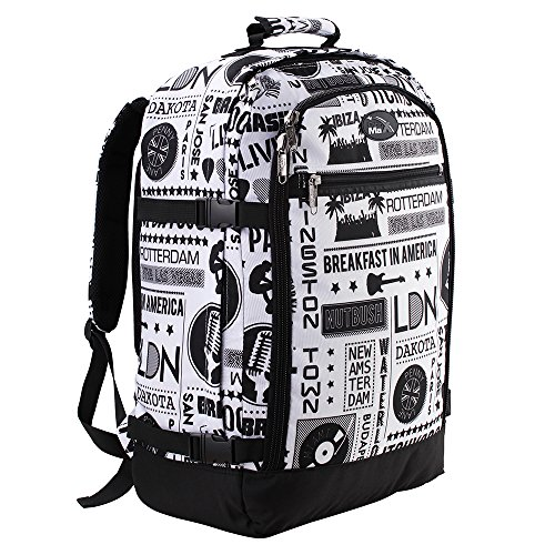 Cabin Max Backpack Flight Approved Carry On Bag Massive 44 litre Travel Hand Luggage 55x40x20 cm (Stereo)