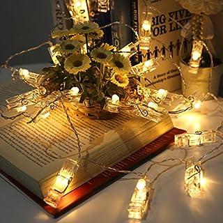 Elinker Lichterketten Foto Strombetrieben, 40LED Bilder Klammern  Lichterkette 5M Mit Acht Mode Schalter Für Party