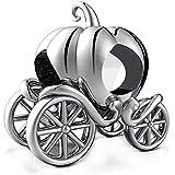 GW Charms Perlina con Carrozza a Forma di Zucca in Argento Sterling 925 per Bracciale Pandora