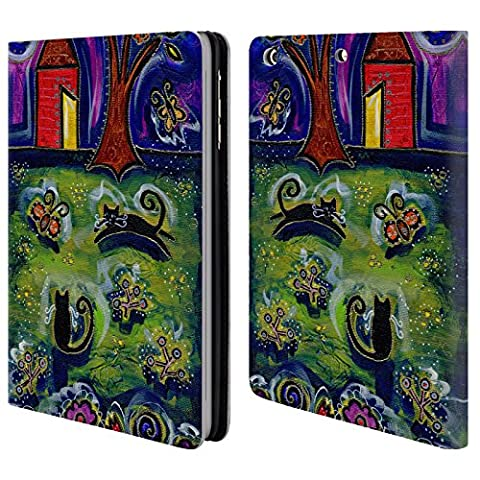 Official Wyanne Barnyard Kitties At Midnight Cat Leather Book Wallet Case Cover For Apple iPad mini 1 / 2 /