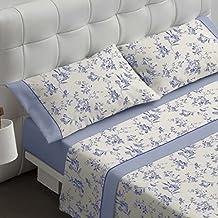 Burrito Blanco Juego de sábanas 459 Azul de cama de 150x190/200 cm