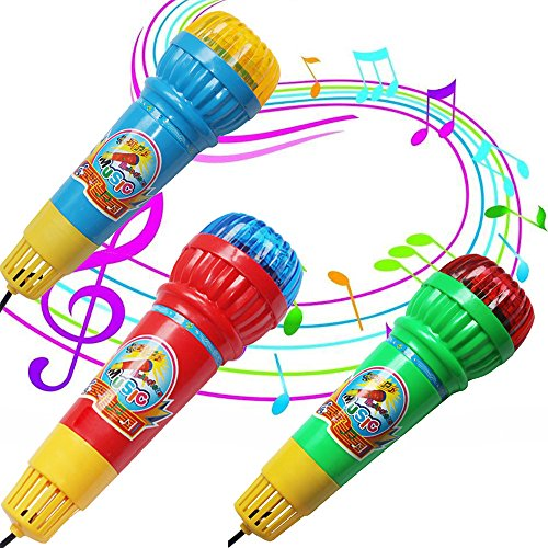 hahuha Toy  Dekompressionsspielzeug, Echo Mikrofon Mic Voice Changer Spielzeug Geschenk Geburtstagsgeschenk Kinder Party Song