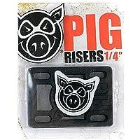 "Pig Piles–Tabla de skate (elevadores duro Negro 1/4"""