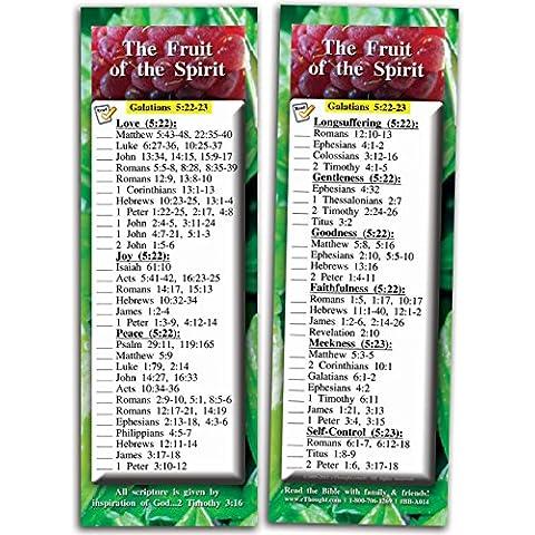 El fruto del espíritu - paquete de 25 tarjetas (2,75 x 8,25)