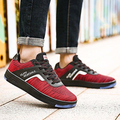 Herren Damen Sneaker Skateboardschuhe Sportschuhe Schuhe Freizeit Schwarz Rot Weiß Rot
