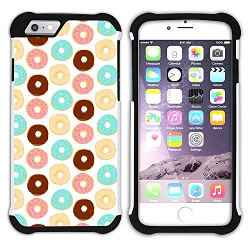 Graphic4You Gesüßt Krapfen Doughnut Hart + Weiche Kratzfeste Hülle Case Schale Tasche Schutzhülle für Apple iPhone 6 / 6S Design #13