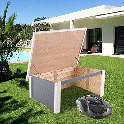 zelsius holzgarage f r rasenm her roboter garage aus holz. Black Bedroom Furniture Sets. Home Design Ideas