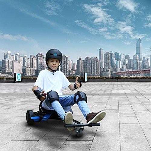Bluewheel Hovokart HK200 Sitz Erweiterung für 6, 5 - 10 Zoll Hoverboard, E-Kart, Elektro Go-Kart, Sitzaufsatz, Schalensitz & Umbausatz, anpassbarer Stahl-Rahmen - 4