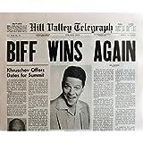 Zurück in die Zukunft II Zeitung Prop Replica Nachbildung Biff Gewinnt wieder 38,1x 53,3cm. USA–1989–Ro