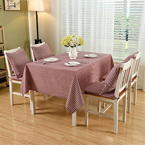 Linda® manteles sencillo atmósfera algodón rojo microcítico manteles retro restaurante Vector de...