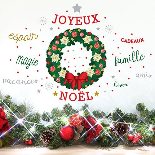 wallflexi Navidad decoración pared pegatinas pared murales adhesivos de