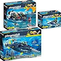 Playmobil Top Agents 3 pcs. Set 70005 70006 70007 TEAM S.H.A.R.K. Drill Destroyer + Harpoon Craft + Rocket Rafter