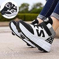 qmj Chaussures De Patinage À roulettes Hommes Et Femmes Chaussures De Sport Décontractées pour Enfants Chaussures De…