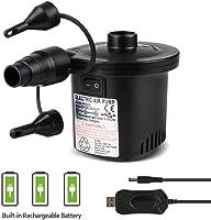 Elektrische Luftpumpe USB Luftmatratze Pumpe,Deeplee 2 in 1 Elektropumpe Power Pump Inflator Deflator mit 3 Luftdüse für...