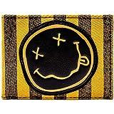 Nirvana Klassisches Smiley-Band-Logo Orange Portemonnaie Geldbörse