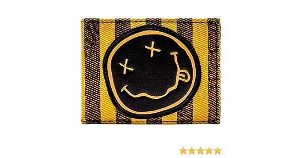 Nirvana Classique Sourire Visage Groupe Logo Orange Portefeuille