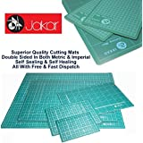 Jakar Green Self Healing Cutting Mat A5 Double Sided cm mm inch Imperial Metric Squared Quality Proffesional by Jakar