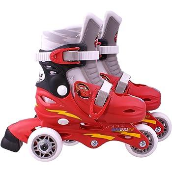 Disney STAMP CARS - J892301 - Vélo et Véhicule pour Enfant - Patins en Ligne 2 en 1 - 3 Roues Cars2 - Taille 27-30