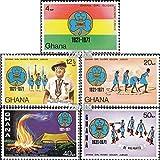Ghana 434A-438A (kompl.Ausg.) 1971 Pfadfinderinnen (Briefmarken für Sammler)