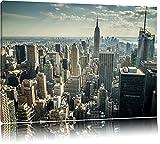 Dark New York bei TagFormat: 120x80auf Leinwand, XXL riesige Bilder fertig gerahmt mit Keilrahmen, Kunstdruck auf Wandbild mit Rahmen, günstiger als Gemälde oder Ölbild, kein Poster oder Plakat