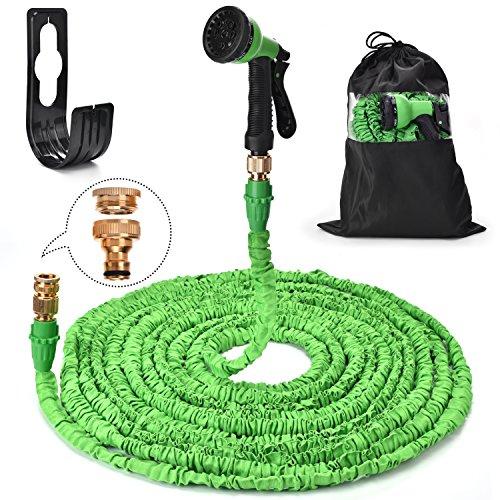 leadaybetter Flexibler Gartenschläuche 30m Ausgedehnt Ausziehbarer Schlauch mit 7-Phasen-Düse Wasserschlauch Flexibel, Gartenteichschlauch Dehnbarr