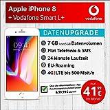 Apple iPhone 8 (Gold) mit 64 GB internem Speicher, Vodafone Smart L+ inkl. 7GB Highspeed Volumen mit Max 500 Mbits, inkl. Telefonie- und SMS Flat, EU-Roaming, 24 Monate Min. Laufzeit, mtl.