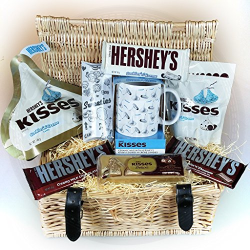 herseys-kisses-valentines-wicker-hamper-cookiesncreme-pouches-chocolate-bars-ceramic-mug-and-kisses-