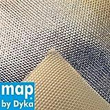 map by Dyka ® 100x100 cm (1m²) Hitzeschutzfolie,Hitzeschutzmatte,Hitzeschutzplatte,Hitzematte,Hitzefolie,Hitzeschutz Auspuff Krümmer, für Auto Motorrad, hitzebeständig bis 800°C, 1,4 mm,selbstklebend