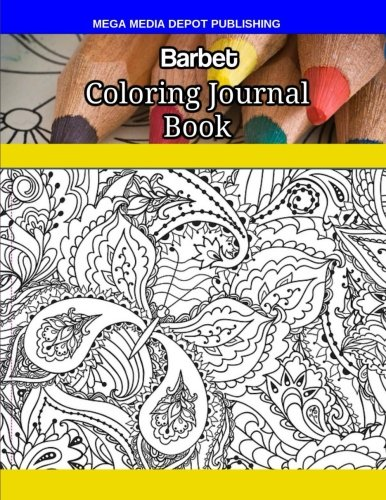 Barbet Coloring Journal Book