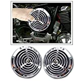 #5: Vheelocityin Small Size Silver Grill Horn for All Cars/ Bike/ Scooter (Set of 2)
